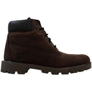 """Kid's Boys 6"""" Boot Dark Brown Nubuck 10974"""